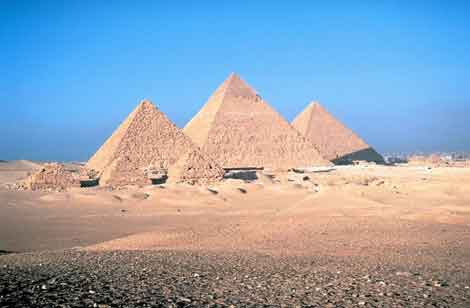 The great pyramid of Egypt. It is estimated that the pyramid took 10-14 years to build and required an average workforce of 14,500 people and a peak workforce of roughly 40,000.