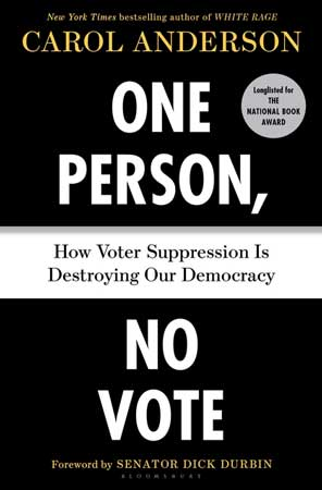 Cover of One Person No Vote by Carol Anderson