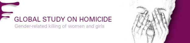 Photo: Aspect of the cover of the Global Study on Homicide: Gender-related killing of women and girls.