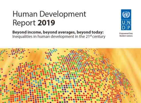 Human Development Report 2019 Credit: UNDP