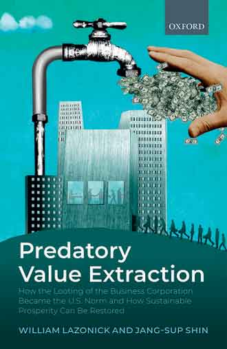 Cover of Predatory Value Extraction by William Lazonick and Jang-Sup Shin